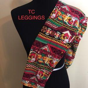 LuLaRoe TC Christmas Leggings.
